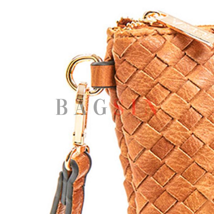 Τσάντα Χειρός – Φάκελος Με Πλεκτό Σχέδιο & Λαβή Verde 16-6034 Ταμπά