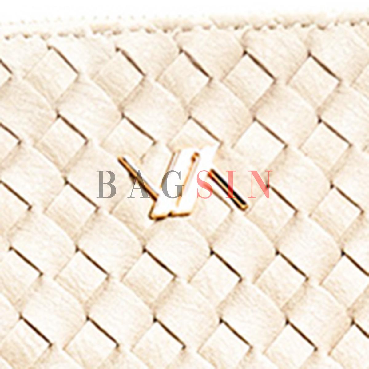 Τσάντα Χειρός – Φάκελος Με Πλεκτό Σχέδιο & Λαβή Verde 16-6034 Μπεζ