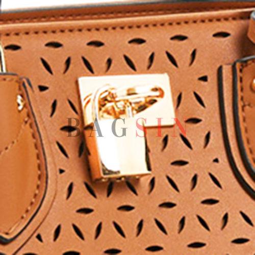 Τσάντα Χειρός-Tote Τρίχωρη Verde 16-5930 Διάτρητη Ταμπά