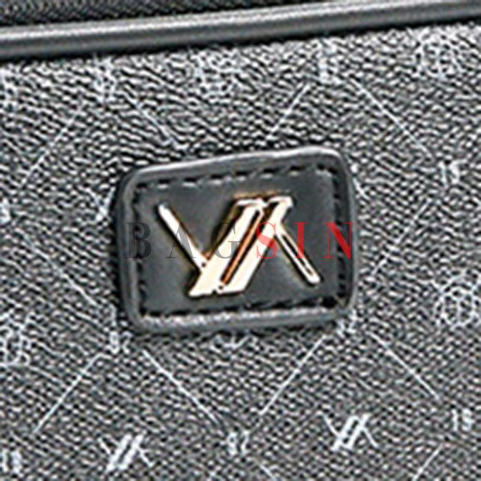 Τσάντα Ώμου-Χιαστί Δίχωρη Με Λογότυπο Verde 16-5938 Μαύρη