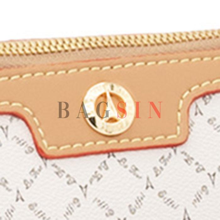 Τσάντα Ώμου – Φάκελος Με Λαβή La Tour Eiffel Logo 171-151006 Λευκή-Μπεζ