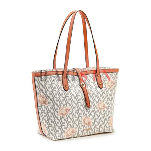 Τσάντα Ώμου Shopper Με Λογότυπο Verde 16-5493 Εκρού-Ταμπά