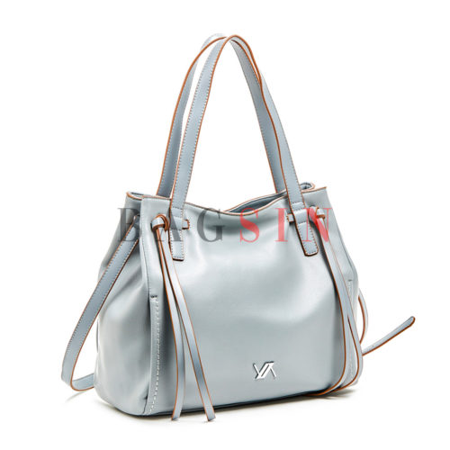 Τσάντα Ώμου Shopper Με Κρόσσια Verde 16-5986 Σιέλ