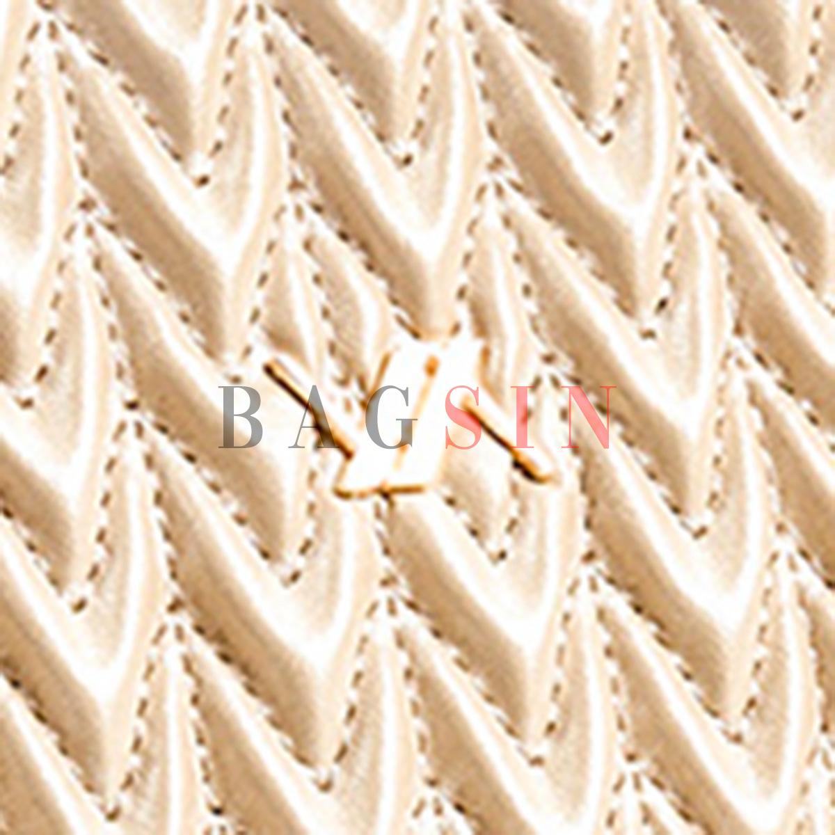 Τσάντα Ώμου – Φάκελος Καπιτονέ Με Αλυσίδα & Λαβή Verde 16-6043 Χρυσή-Μπεζ