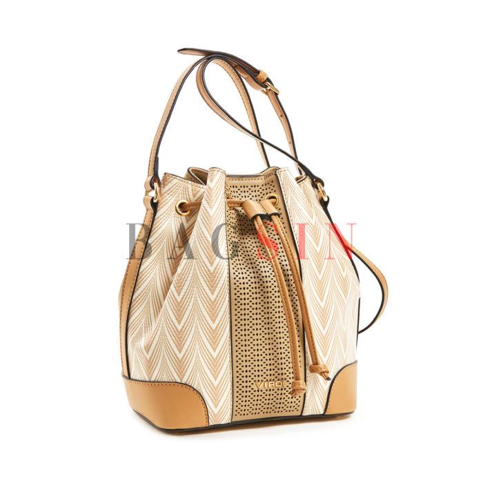 Τσάντα Ώμου – Πουγκί Με Tribal Τύπωμα Verde 16-5882 Μπεζ