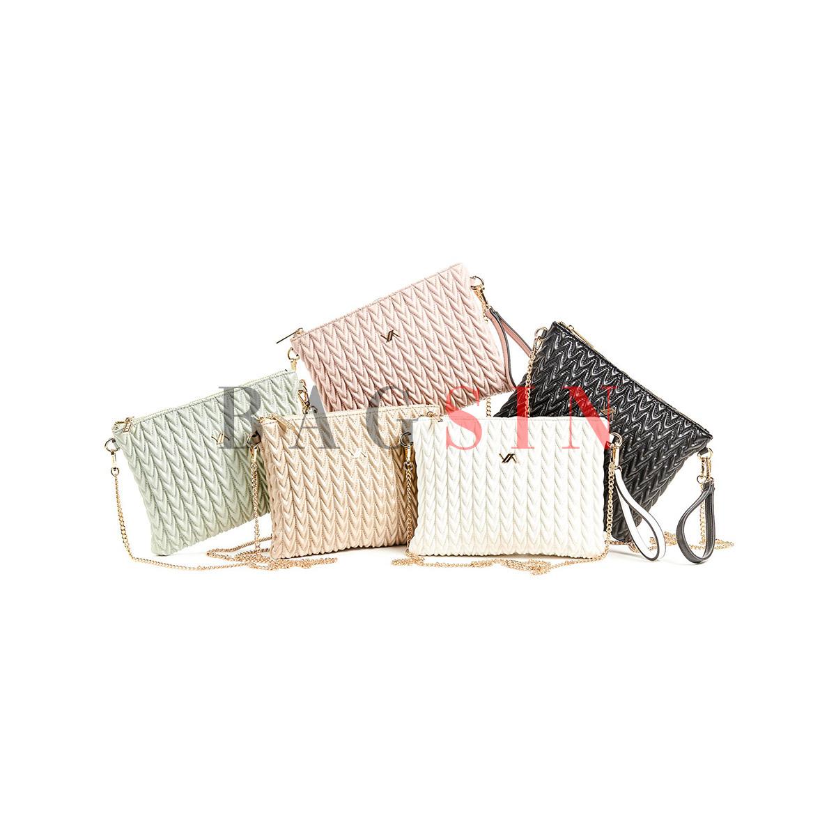 Τσάντα Ώμου – Φάκελος Καπιτονέ Με Αλυσίδα & Λαβή Verde 16-6043