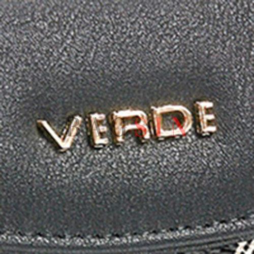 Πορτοφόλι Δίχωρο Με Λογότυπο Verde 18-1146 Μαύρο