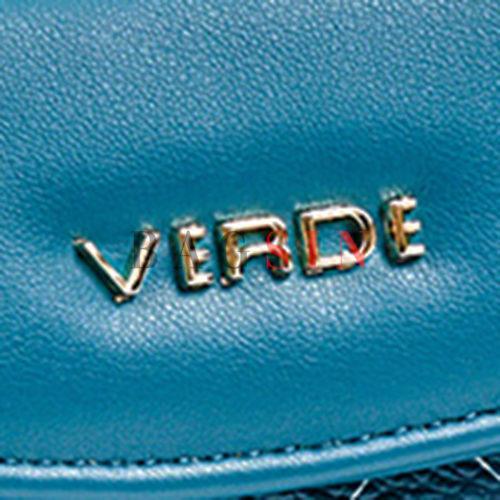 Πορτοφόλι Δίχωρο Με Λογότυπο Verde 18-1146 Μπλε-Πετρόλ