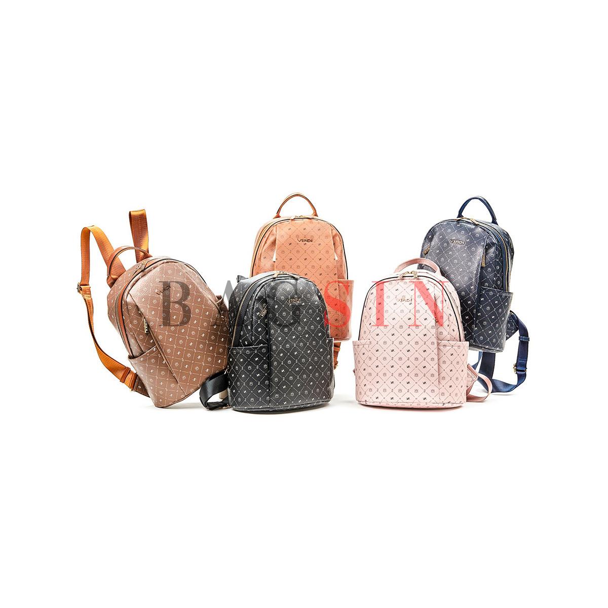 Σακίδιο Πλάτης Πολυθέσιο Με Λογότυπο Verde Backpack 16-6049