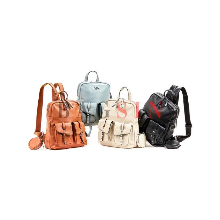 Σακίδιο Πλάτης Μαλακό Με Τσέπες & Πορτοφόλι Verde Backpack 16-5981
