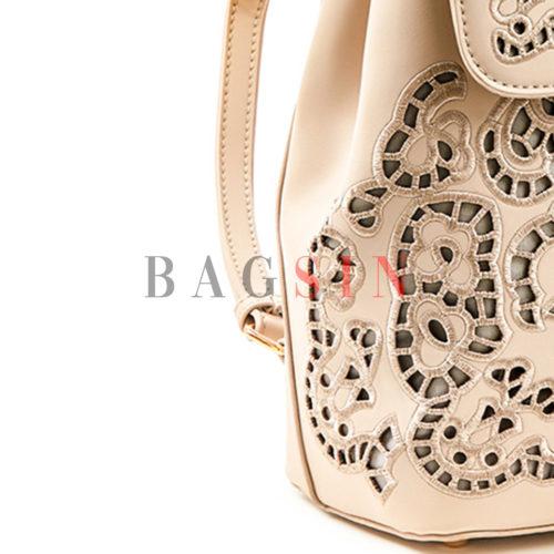 Σακίδιο Πλάτης Verde Backpack 16-5586 Διάτρητο Μπεζ