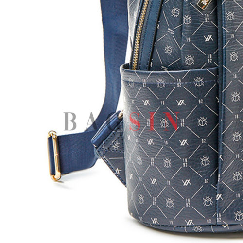 Σακίδιο Πλάτης Πολυθέσιο Με Λογότυπο Verde Backpack 16-6049 Μπλε