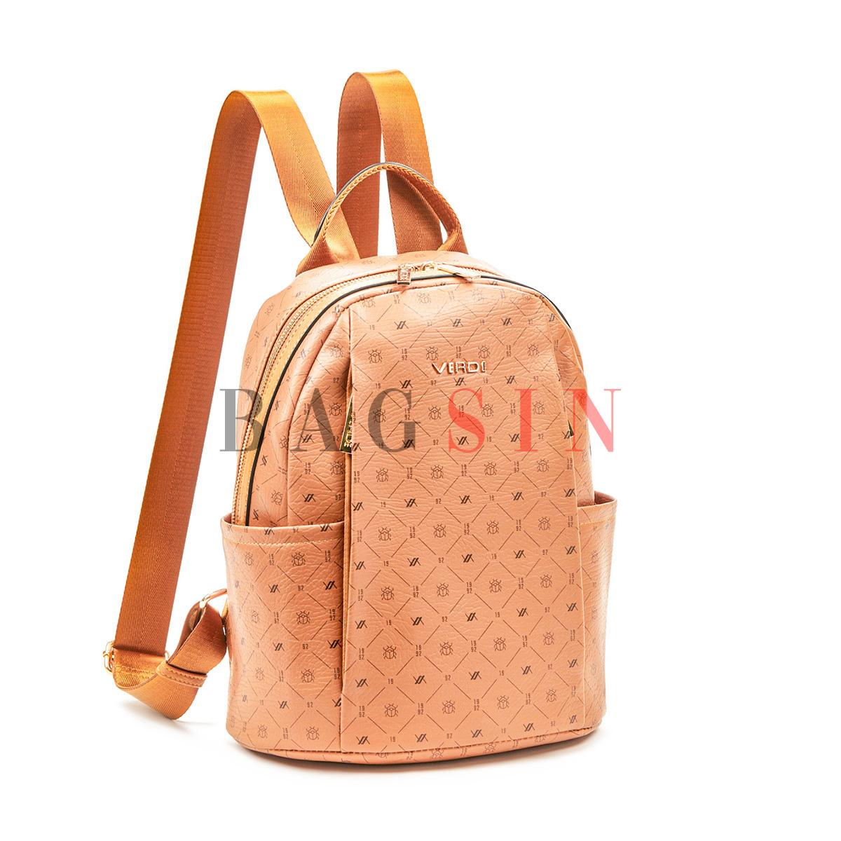 Σακίδιο Πλάτης Πολυθέσιο Με Λογότυπο Verde Backpack 16-6049 Ταμπά