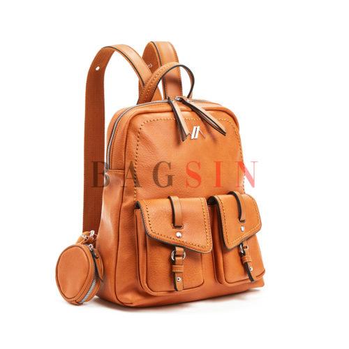 Σακίδιο Πλάτης Μαλακό Με Τσέπες & Πορτοφόλι Verde Backpack 16-5981 Ταμπά