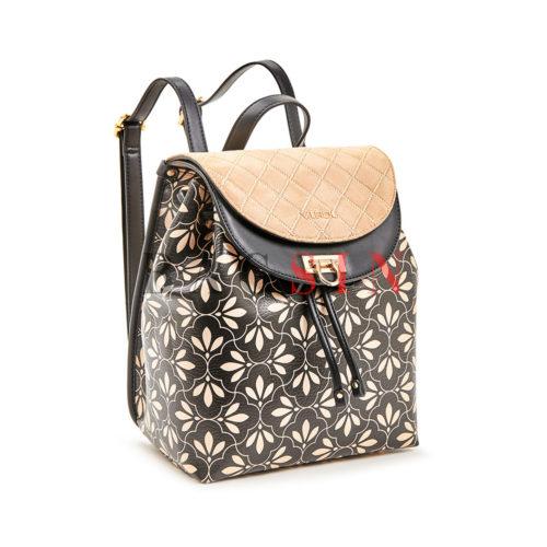 Σακίδιο Πλάτης - Πουγκί Με Floral Τύπωμα Verde Backpack 16-5848 Μαύρο-Μπεζ
