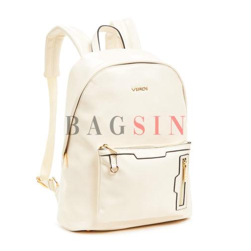 Σακίδιο Πλάτης Μαλακό Verde Backpack 16-6027 Εκρού