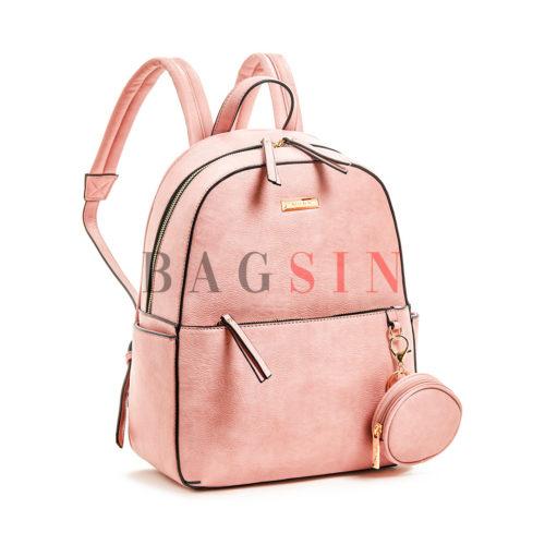 Σακίδιο Πλάτης Με Πορτοφόλι Verde Backpack 16-5957 Ροζ