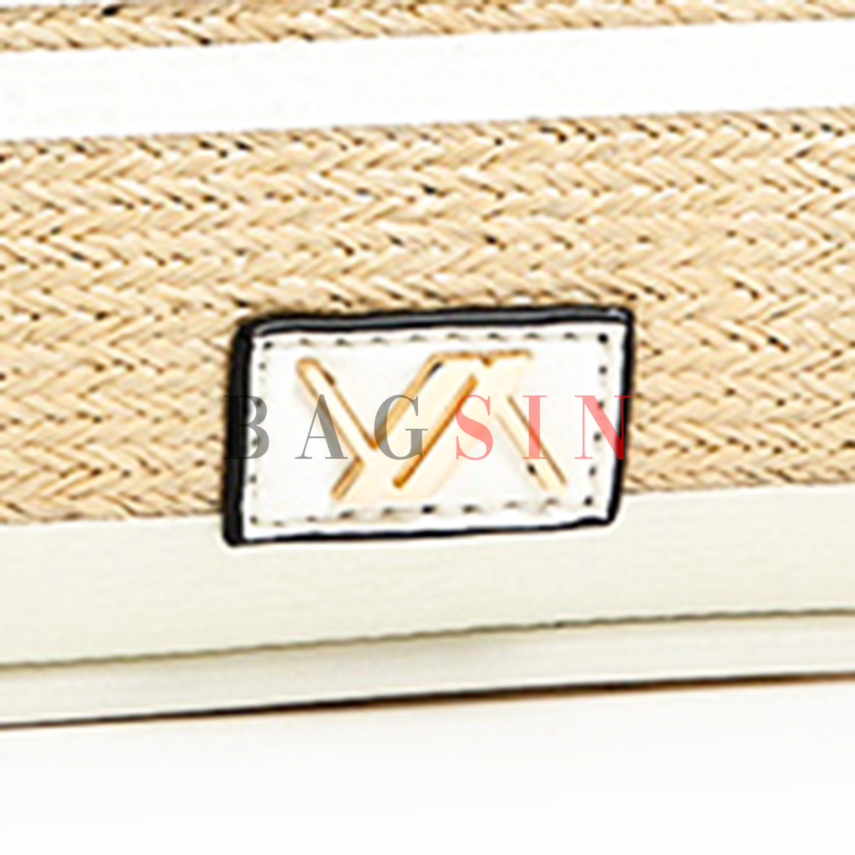 Τσάντα Χειρός – Φάκελος Ψάθινη Με Φιόγκο & Λαβή Verde 16-5969 Μπεζ-Λευκή