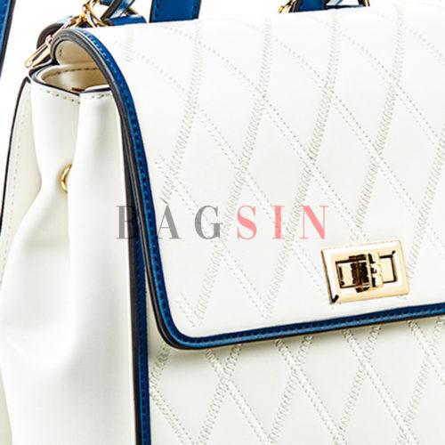 Σακίδιο Πλάτης – Τσάντα Χιαστί Verde Backpack 16-5464 Λευκό-Μπλε