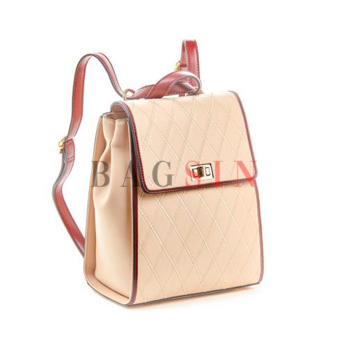 Σακίδιο Πλάτης – Τσάντα Χιαστί Verde Backpack 16-5464 Nude-Βυσσινί