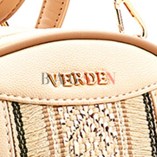 Σακίδιο Πλάτης – Τσάντα Χιαστί Με Πλεκτό Σχέδιο Verde Backpack 16-5563 Nude-Μπεζ