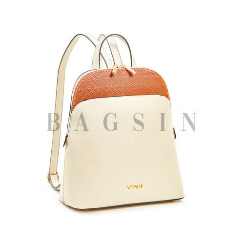 Σακίδιο Πλάτης Με Διάτρητο Σχέδιο Verde Backpack 16-5964 Εκρού