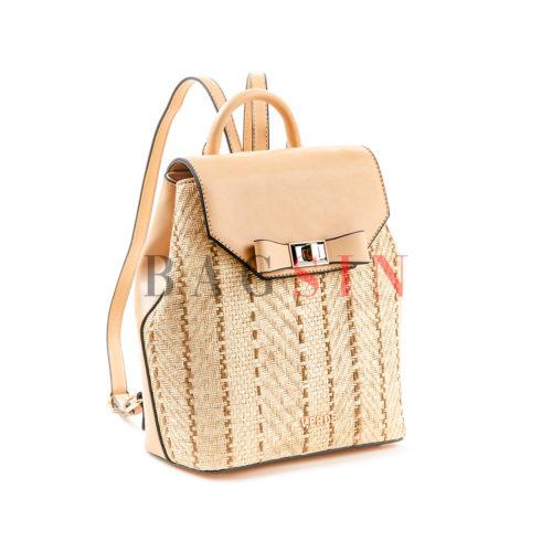 Σακίδιο Πλάτης Ψάθινο Verde Backpack 16-5504 Μπεζ