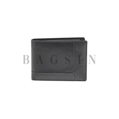 Δερμάτινο Πορτοφόλι Μεγάλο Με Σχέδιο Lavor 5122 RFID Μαύρο