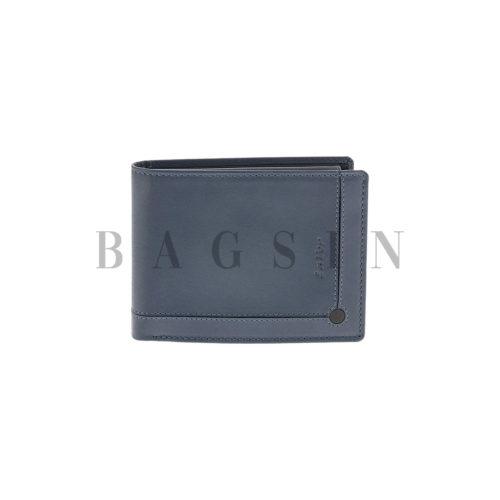 Δερμάτινο Πορτοφόλι Μεγάλο Με Σχέδιο Lavor 5526 RFID Μπλε-Μαύρο