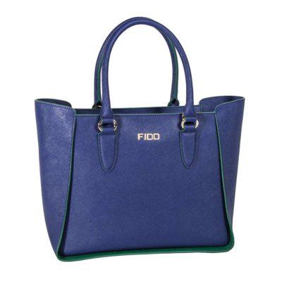 Τσάντα δερμάτινη fido μπλε 44-29