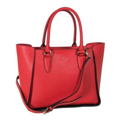 Τσάντα δερμάτινη fido κόκκινη 44-29