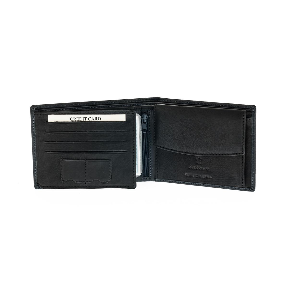 da8803beb3 Ανδρικό Πορτοφόλι Δερμάτινο Lavor 5615 Μαύρο Sim Sd Κάρτες