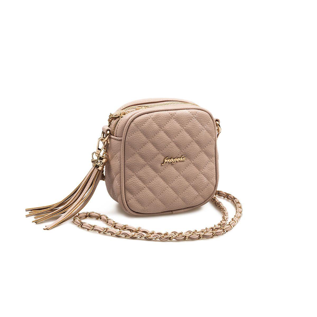 f2d2a356a6 Τσάντα Χιαστί Fragola 008 Ροζ Nude με Αλυσίδα