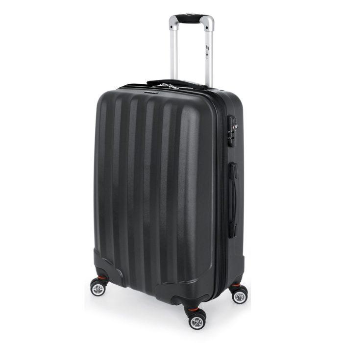 Βαλίτσα Μεσαία Stelxis ST505 Σκληρή Μαύρη